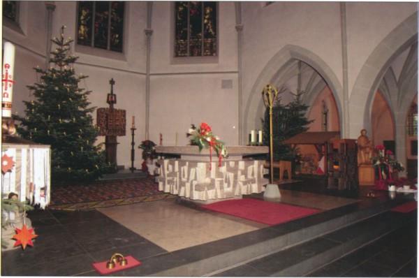Der Chorraum der Josefskirche Weihnachten 2009/10