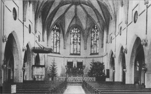 Inneres der Josefskirche 1910