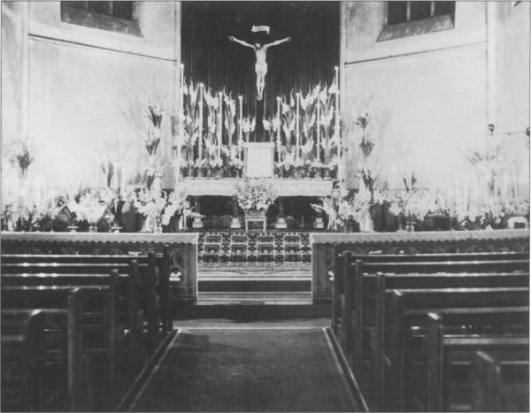 Inneres der Josefskirche 1950